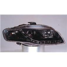 фара л+п (комплект) тюнинг (devil eyes) (sonar) линзован с рег.мотор внутри черная для AUDI A4 с 2005 и далее