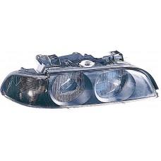 фара л+п (комплект) тюнинг с светящ ободк с бел ук.повор без рег.мотор внутри хром для BMW E39 с 1996 по 2003