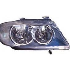 фара л+п (комплект) тюнинг линзован с светящ ободк внутри черная для BMW E90 СЕДАН с 2004 и далее