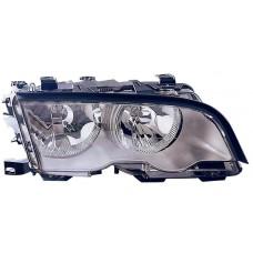 фара л+п (комплект) с светящ ободк с рег.мотор внутри хром для BMW E46 СЕДАН с 1998 по 2001