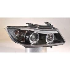 фара л+п (комплект) тюнинг линзован с 2 светящ ободк (sonar) внутри черная для BMW E90 СЕДАН с 2004 и далее
