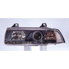 указатель поворота угловой л+п (комплект) (седан) тюнинг прозрач хрустал внутри хром для BMW E36 с 1991 по 1999