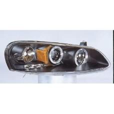 фара л+п (комплект) тюнинг линзован с 2 светящ ободк (sonar) в для DODGE SEBRING SEDAN КАБРИОЛЕТ с 2001 по 2005