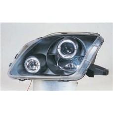 фара л+п (комплект) тюнинг линзован с 2 светящ ободк (sonar) внутри черная для HONDA PRELUDE с 1997 по 2000