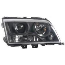 фара л+п (комплект) тюнинг дизайн w220 линзован хрустал прозрач eagle eyes внутри черная для MERCEDES W202 с 1993 по 1996