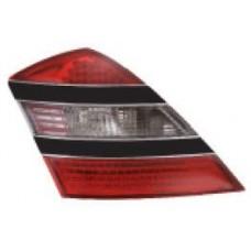 фонарь задний внешний л+п (комплект) тюнинг диод с черный полоск eagle eyes красн-бел для MERCEDES W221 с 2005 по 2008