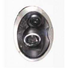 фара л+п (комплект) тюнинг линзован (sonar) внутри черная для MINI COOPER с 2001 по 2008