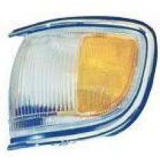 указатель поворота угловой левый с хром молдинг бел-желтый для NISSAN PATHFINDER R50 USA с 1996 по 1998