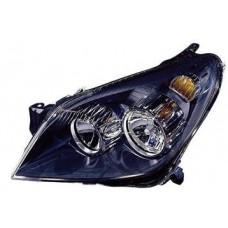 фара левая с рег.мотор внутри черная для OPEL ASTRA H с 2004 и далее