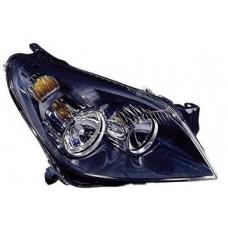 фара л+п (комплект) тюнинг с 2 светящ ободк с рег.мотор внутри черная для OPEL ASTRA H с 2004 и далее