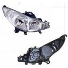 фара правая без противотуманная с рег.мотор для PEUGEOT 207 с 2005 и далее