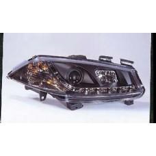 фара л+п (комплект) тюнинг линзован (devil eyes) (sonar) внутри черная для RENAULT MEGANE с 2003 и далее