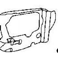 крепление фары правое для SUBARU FORESTER с 1999 по 2002