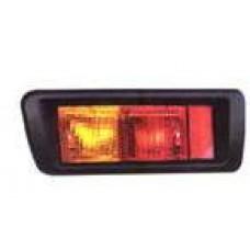 фонарь задний внешний левый с рамк в бампер красн-желтый для TOYOTA LANDCRUISER PRADO 90 с 1996 по 2002