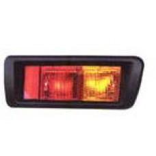 фонарь задний внешний правый с рамк в бампер красн-желтый для TOYOTA LANDCRUISER PRADO 90 с 1996 по 2002