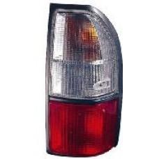 фонарь задний внешний л+п (комплект) тюнинг прозрач хрустал красн-бел для TOYOTA LANDCRUISER PRADO 90 с 1996 по 2002