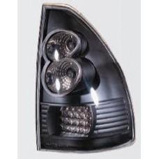 фонарь задний внешний л+п (комплект) тюнинг с диод прозрач (sonar) внутри черный для TOYOTA LANDCRUISER PRADO 120 с 2003 и далее