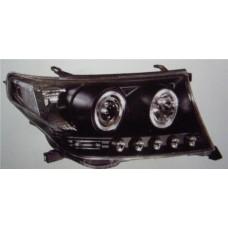 фара л+п (комплект) тюнинг линзован (devil eyes) (sonar) внутри черная для TOYOTA LANDCRUISER 200 с 2008 и далее