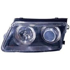 фара +указ.поворота л+п (комплект) тюнинг линзован с 2 светящ ободк п/корректор внутри черная для VOLKSWAGEN PASSAT B5 с 1997 по 2000