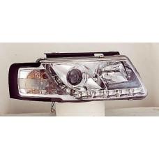 фара л+п (комплект) тюнинг линзован (devil eyes) , литой ук.повор (sonar) внутри хром для VOLKSWAGEN PASSAT B5 с 1997 по 2000