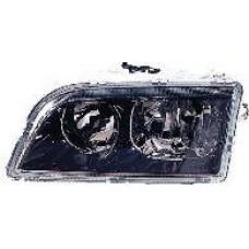 фара левая п/корректор внутри черная для VOLVO V40 с 2001 по 2003