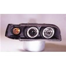 фара л+п (комплект) тюнинг прозрач с 2 светящ ободк , литой ук.повор (sonar) внутри черная для VOLVO 850 с 1991 по 1997